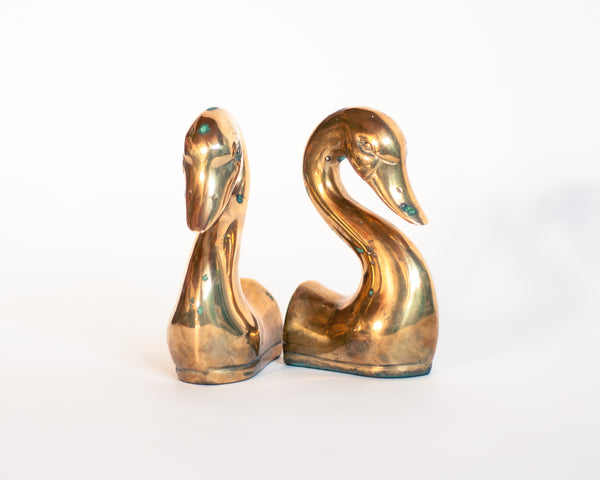 § Brass Duck Bookends