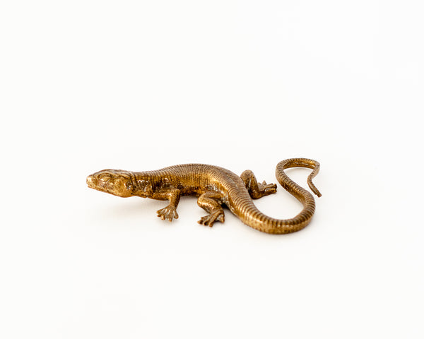 § Brass Lizard Figurine