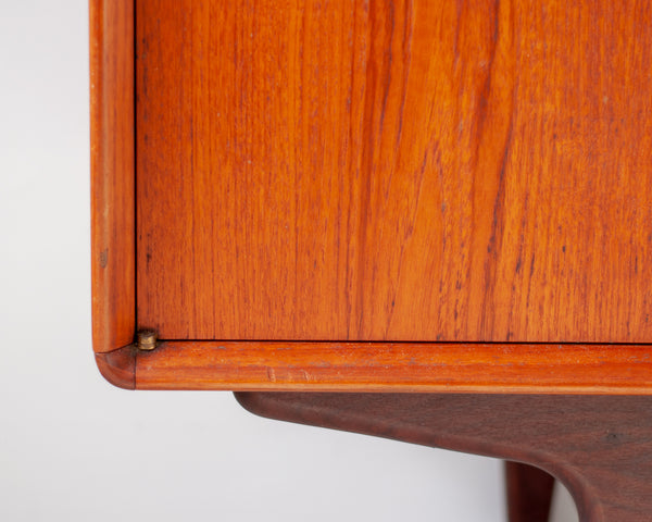 RESERVED Elegant Mid-century Danish Teak Sideboard with Rounded Corners