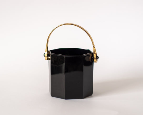 Geometric Black and Gold Ice Bucket
