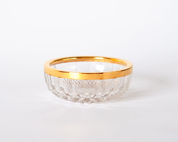 § Crystal and Gold Candy Dish