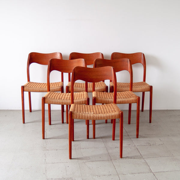 Niels Moller Model 71 Dining Chairs - Set of 6