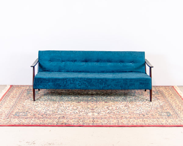 §1960's Scandinavian Sofa (new upholstery)