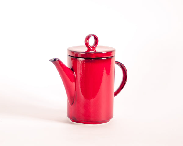 § Mid-century Villeroy & Boch Granada Tomato Red Tea or Coffee Pot
