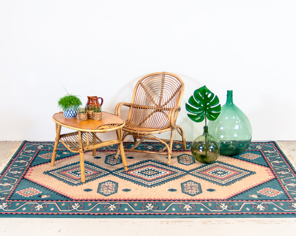 § Vintage 1960's Janine Abraham Rattan Coffee Table