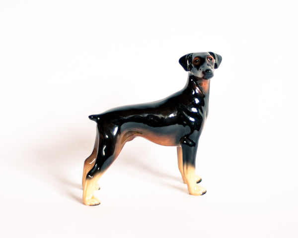 Vintage Ceramic Doberman Dog Figurine