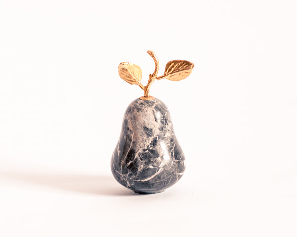 § Marble and Gold Pear Paperweight