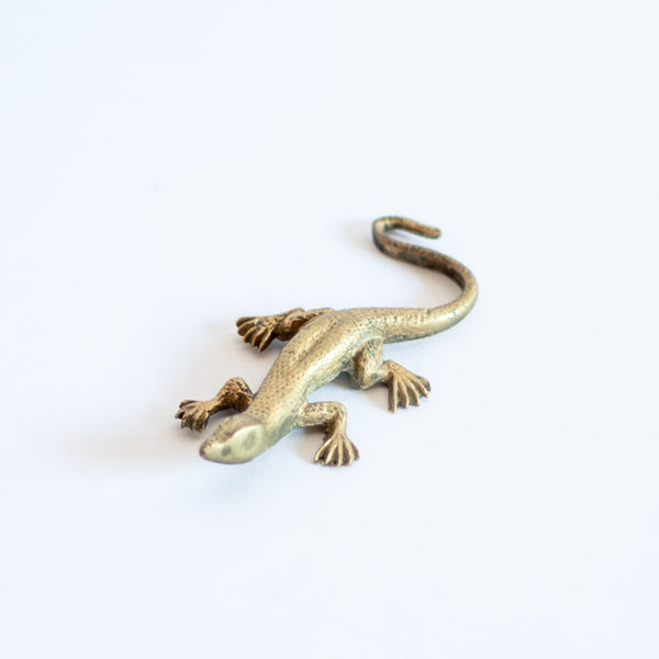 § Miniature Brass Lizard Figurine