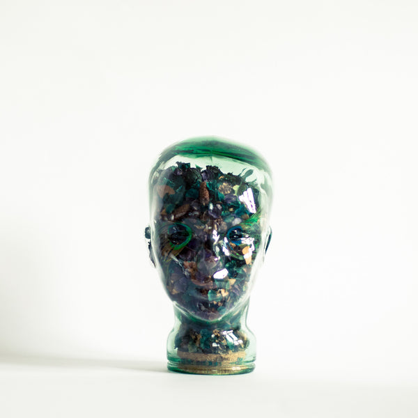 Oddhaus Vintage Luxembourg Potpourri Glass Head with Flowers