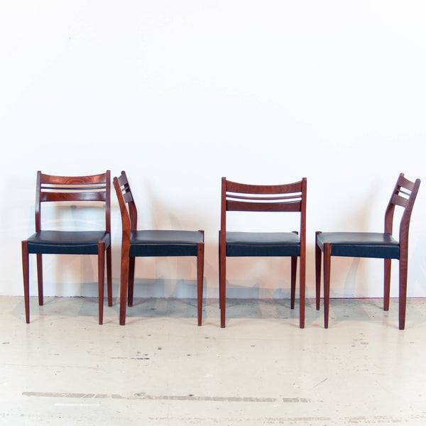 Oddhaus Vintage Luxembourg Set of 4 Danish Midcentury teak dining chairs