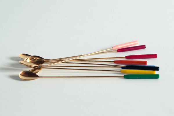 § Rainbow Brass Cocktail Sticks