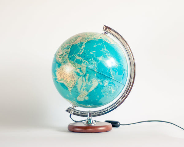 § Vintage Illuminated Globe Tecnodidattica (French)