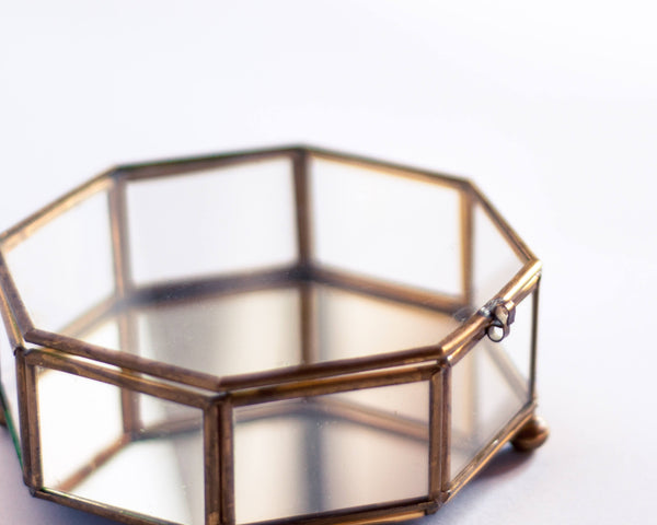 § Brass Octagonal Jewelry Box
