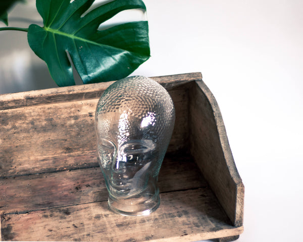 § Glass Head Hat Stand Display