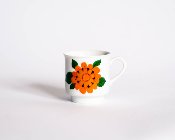 Floral Geometric Coffee Cups - Set of 5