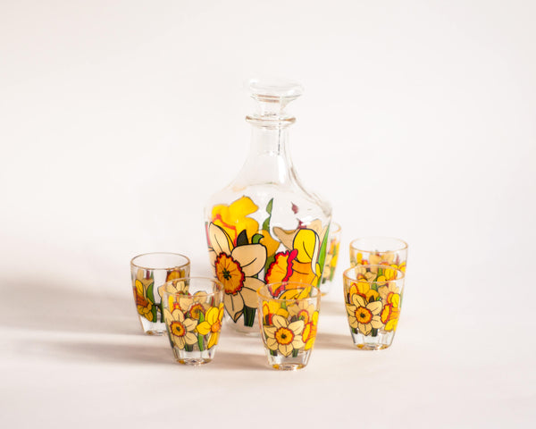 § Floral Decanter Set