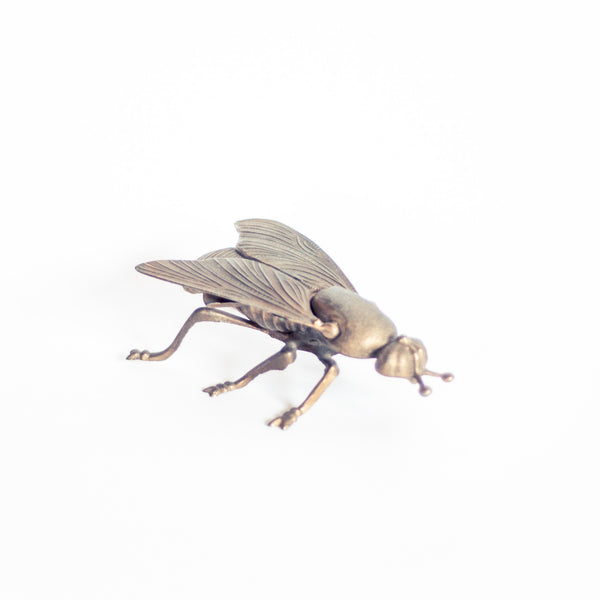 § Vintage Brass Decorative Fly Figurine / Ashtray