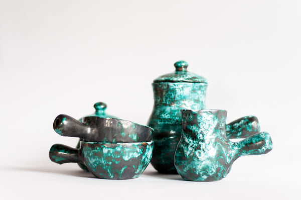 § 60s Teal Vallauris Breakfast Service