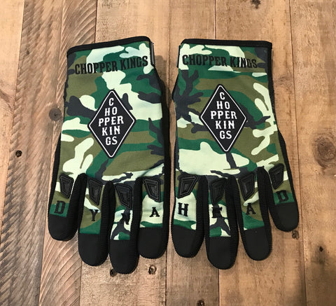 DYNAHEAD camo riding gloves