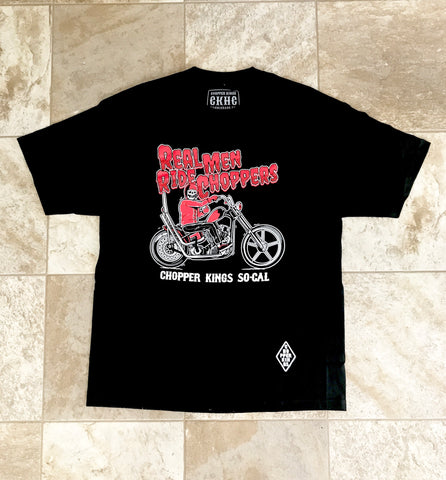 REAL MEN RIDE CHOPPERS t-shirt