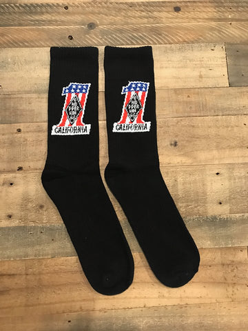 1 FLAG crew high socks