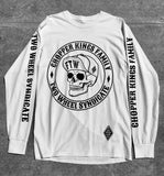 SKULL long sleeves tee