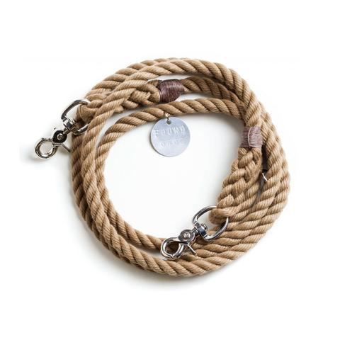 Found My Animal: Natural Rope Leash, Adjustable.