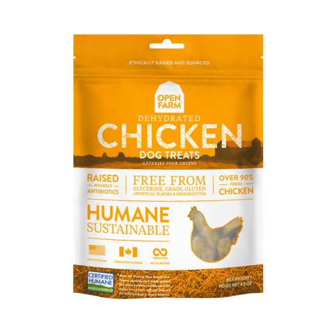 Open Farm Dehydrated Grain Free Chicken Treats