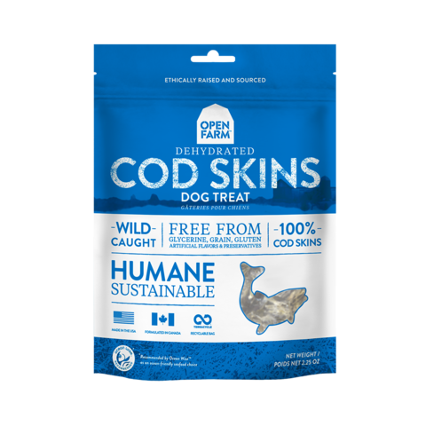 Open Farm Dehydrated Grain Free Cod Skins