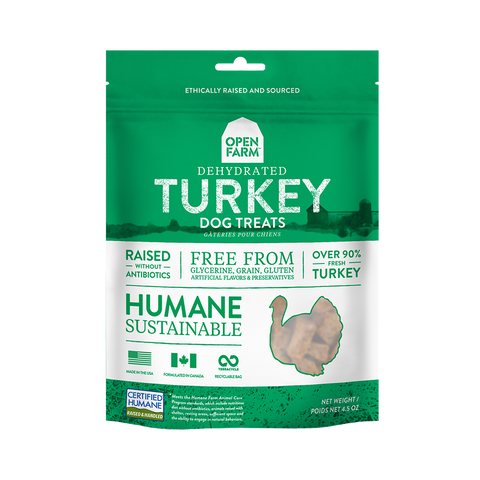 Open Farm Dehydrated Grain Free Turkey Treats