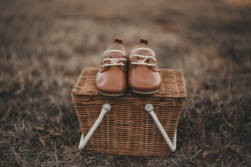 Perfect Baby Shoes for Toddlers and Little Children - Great Exchange Policy - Oxfords in Caramel