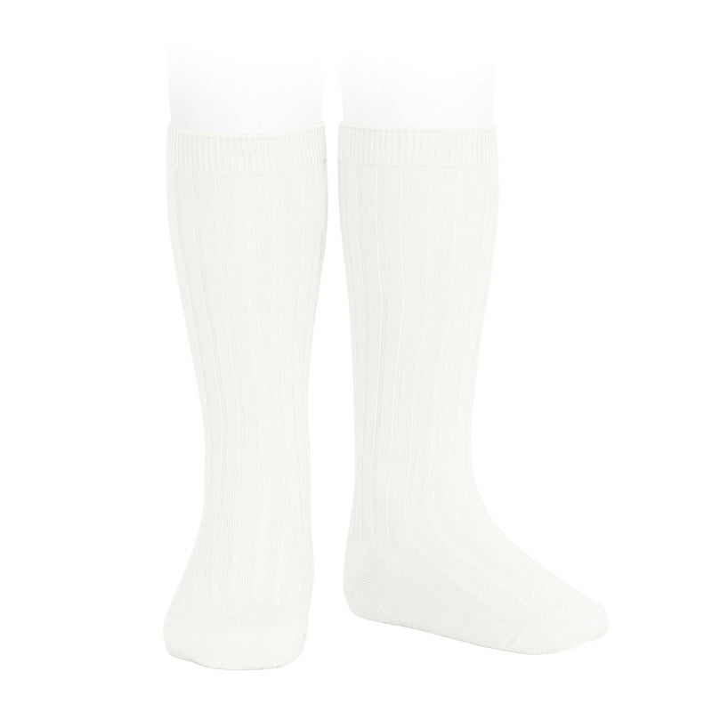 Condor Socks - Ribbed, Knee High - Cream