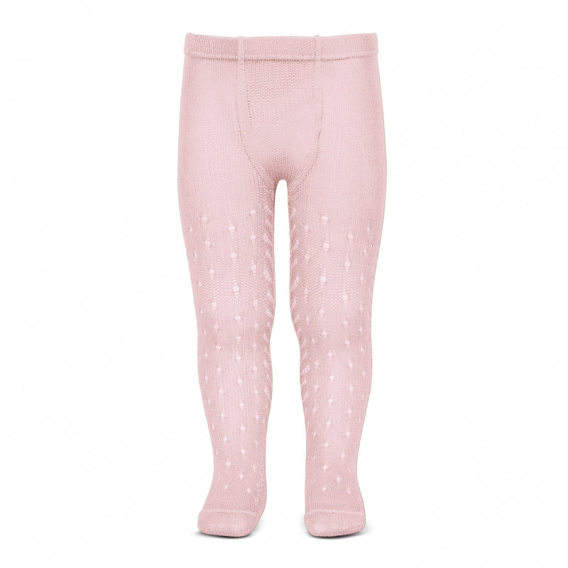 Condor Tights - Side Openwork Lace in Pink