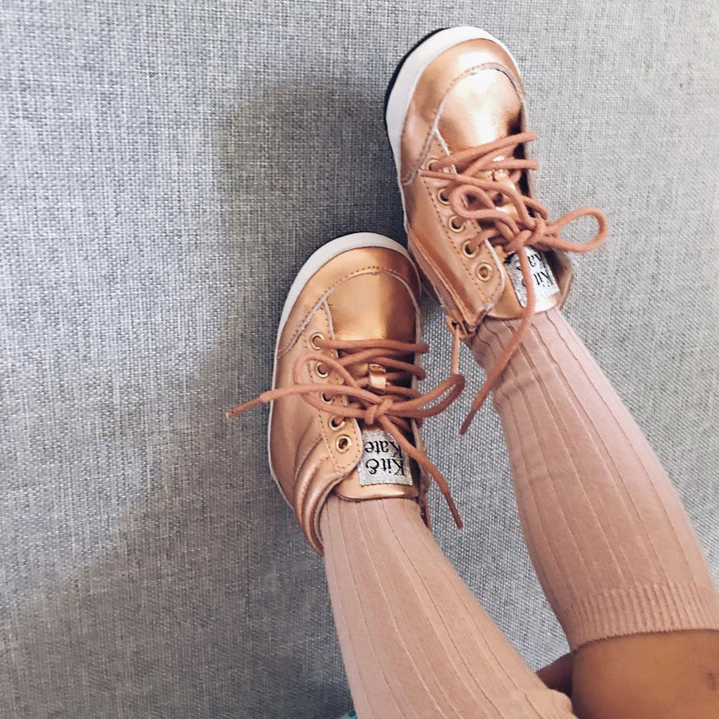 Brooklyn High Tops Rose Gold