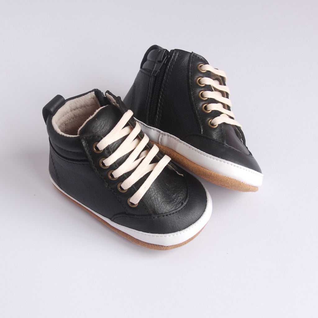 Brooklyn Baby High Top Sneakers Jet Black
