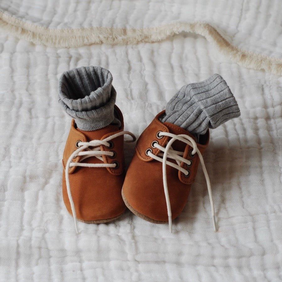 Oxford Nubuck Natural Leather Baby soft soled natural leather Shoes for Babies and Toddlers boy & girls - Kit t& Kate 13
