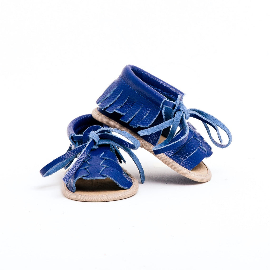 Baby Sandals - Cali Blue for babies toddlers and children, natural leather boys & girls, Kit & Kate Australia Perth 4