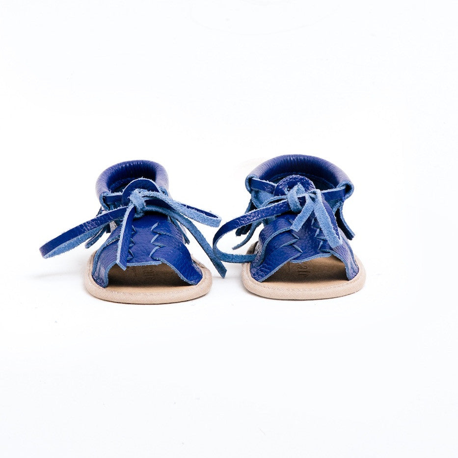 Baby Sandals - Cali Blue for babies toddlers and children, natural leather boys & girls, Kit & Kate Australia Perth 7