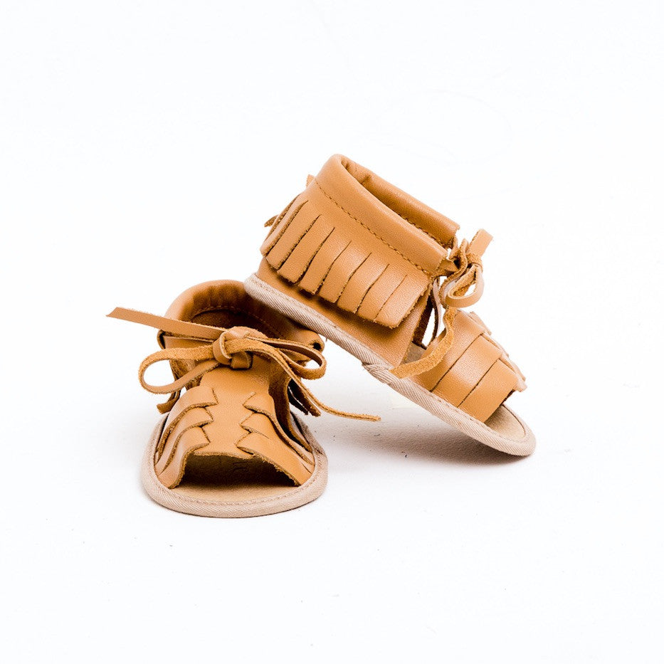 Baby Sandals - Cali Tan for babies toddlers and children, natural leather boys & girls, Kit & Kate Australia Perth 5