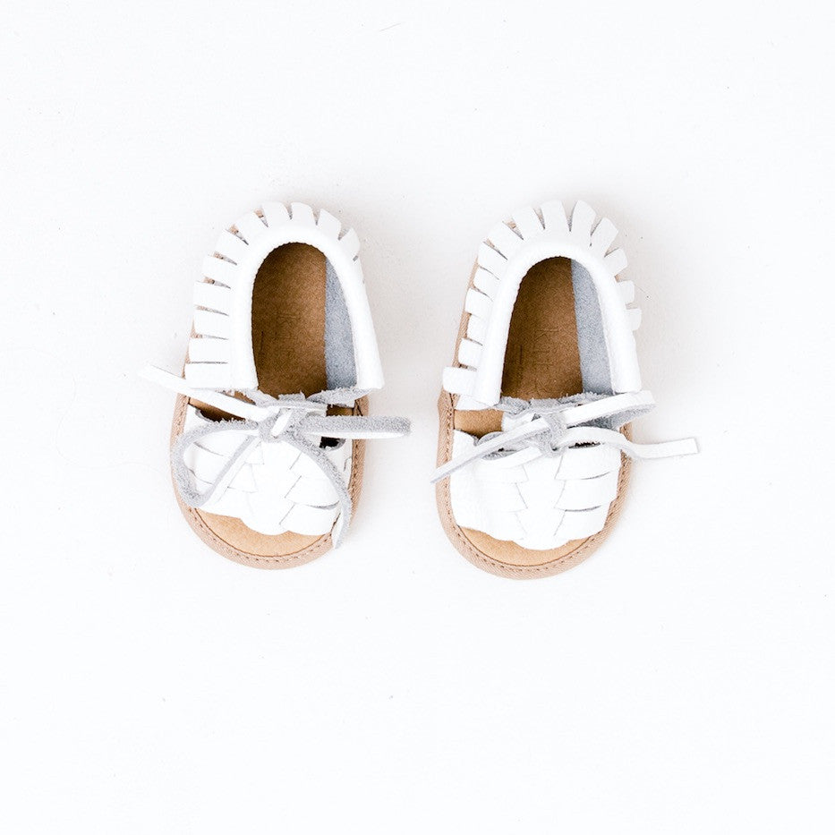 Baby Sandals - Cali White for babies toddlers and children, natural leather boys & girls, Kit & Kate Australia Perth 3