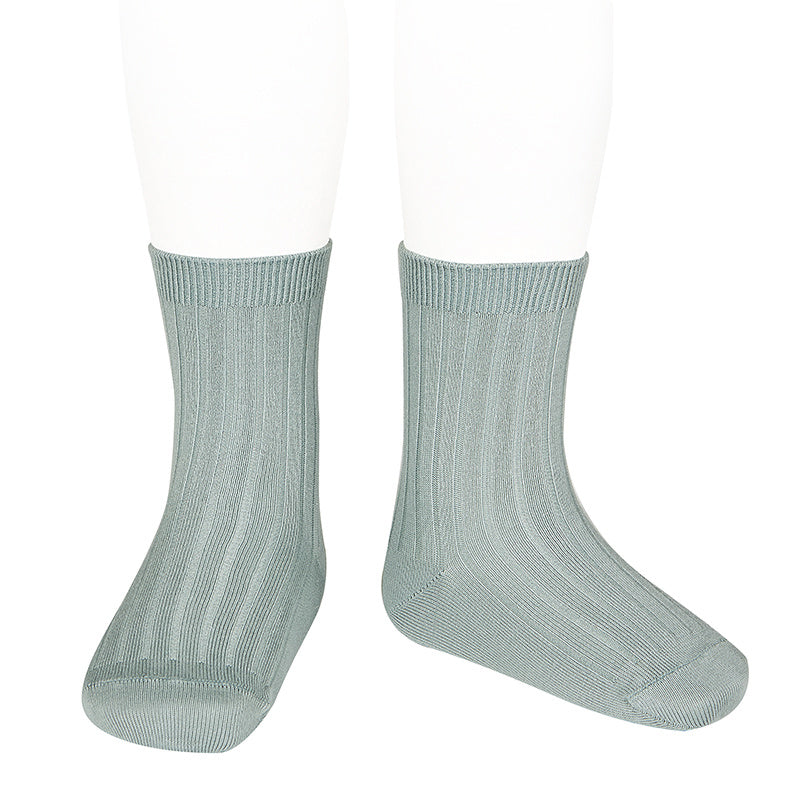 Condor Socks - Ribbed, Knee High - Dry Green