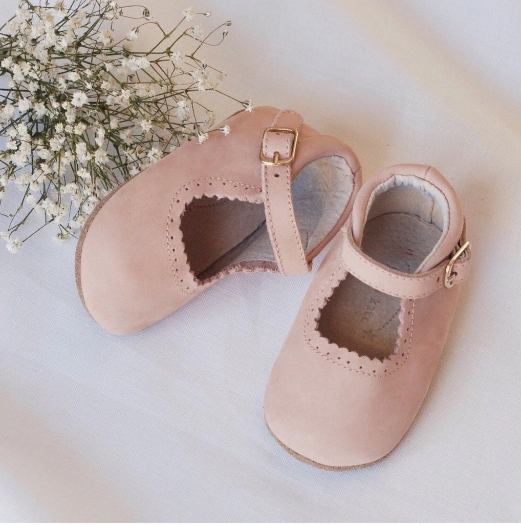 Eleanor Leather Baby Mary Jane Soft soled natural leather Shoes for Babies and Toddlers girls - Kit t& Kate 3