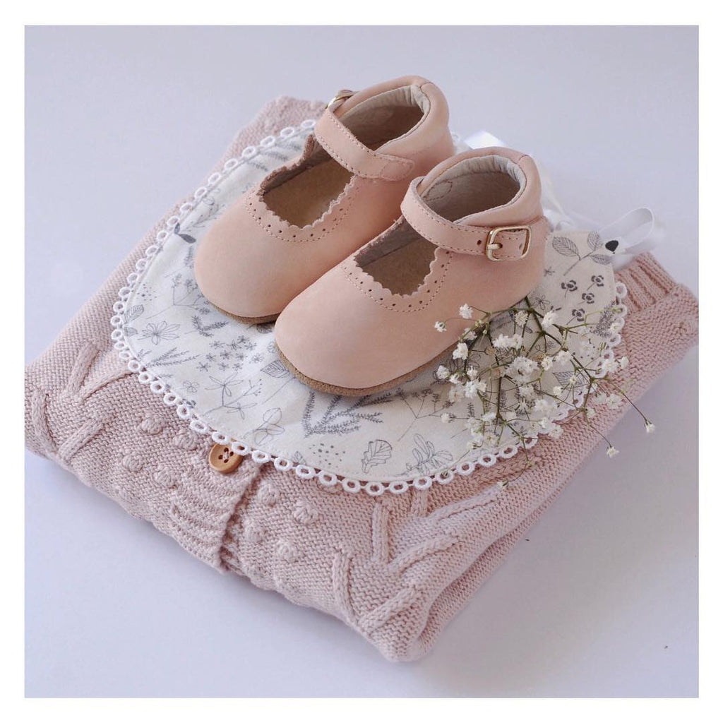Eleanor Leather Baby Mary Jane Soft soled natural leather Shoes for Babies and Toddlers girls - Kit t& Kate 7