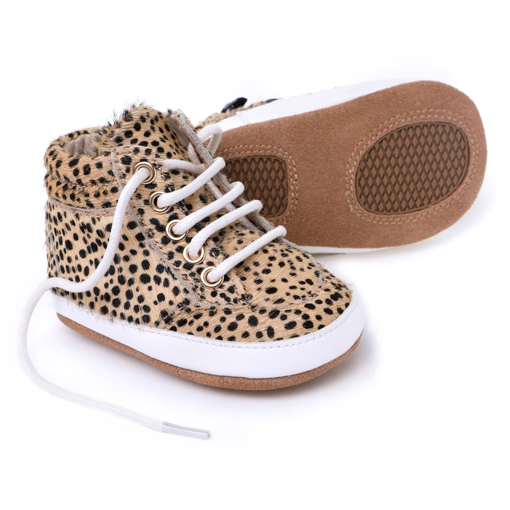 High Quality Baby Shoes for Babies and Toddlers in Cheetah - Kit & Kate 1 The Place to Be baby!