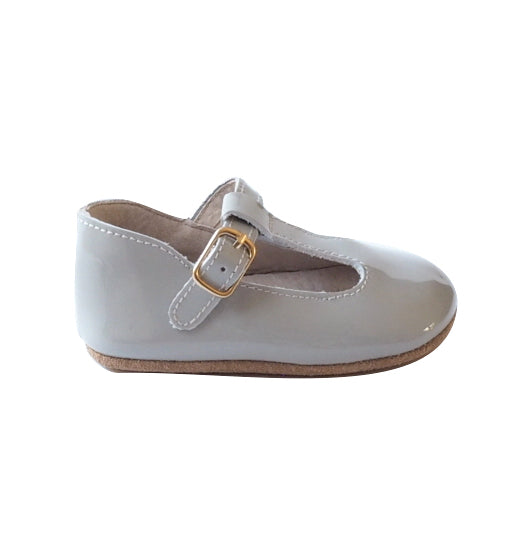 Baby Shoes - Paris baby t-bar shoes for babies & toddlers, soft soles natural leather 7
