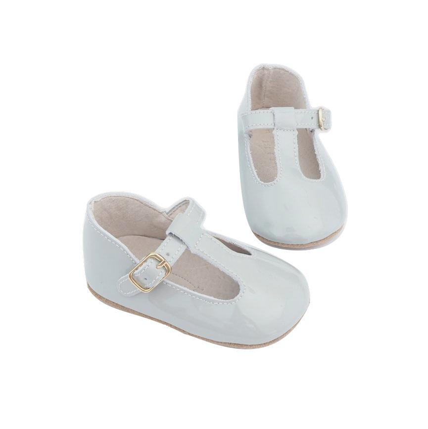 Baby Shoes - Paris baby t-bar shoes for babies & toddlers, soft soles natural leather 9