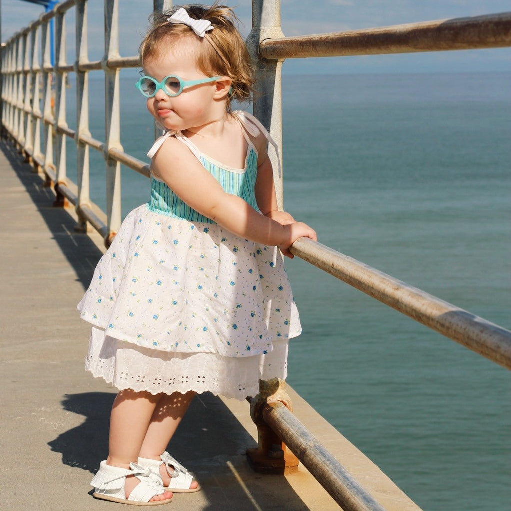 Baby Sandals - Cali White for babies toddlers and children, natural leather boys & girls, Kit & Kate Australia Perth 2