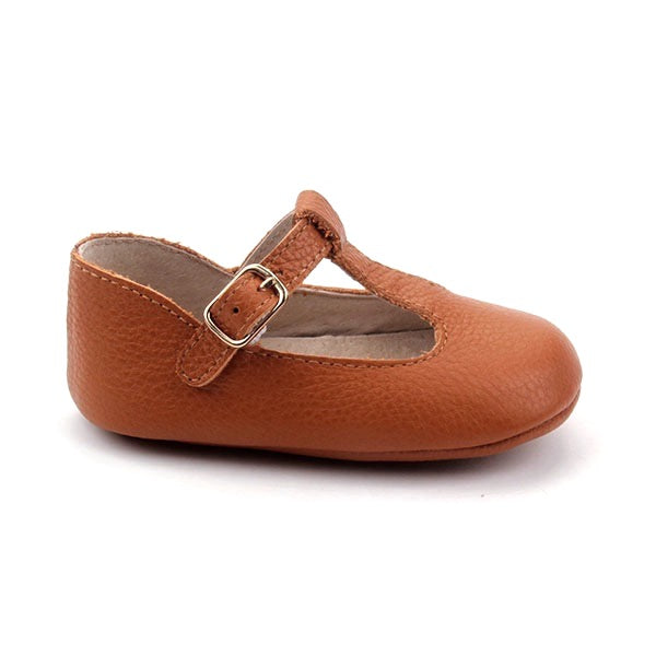 Baby Shoes - Paris baby t-bar shoes for babies & toddlers, soft soles natural leather 40