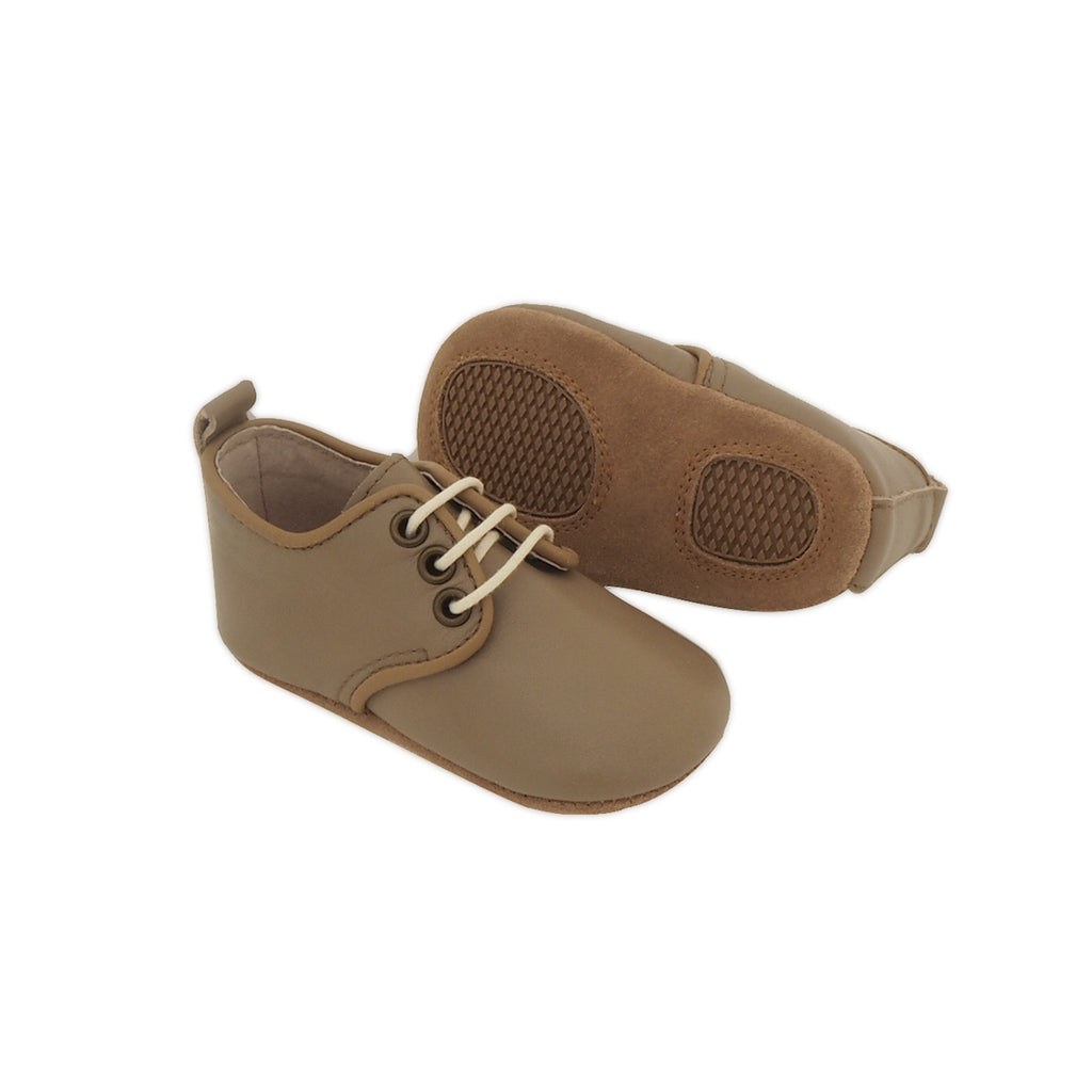 Baby Shoes - Baby Oxford Shoes for Babies & Toddlers. Soft Soles Natural Leather 8