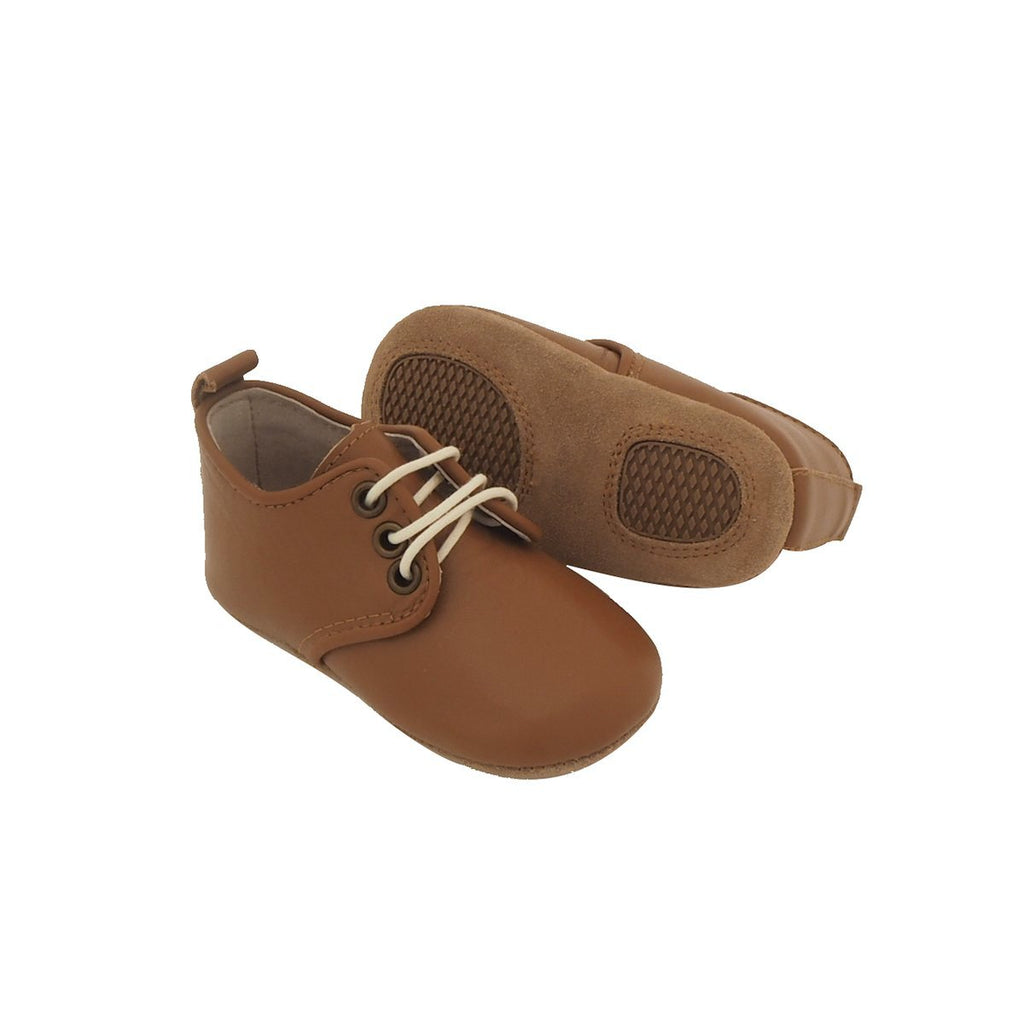 Baby Shoes - Baby Oxford Shoes for Babies & Toddlers. Soft Soles Natural Leather 6